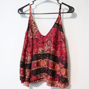 Tobi crop cami tank boho blouse medium